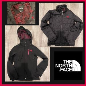 North Face 2 in 1 Shell and Puffer Pink/Black XS
